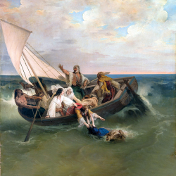 Boat with escaped Greeks
