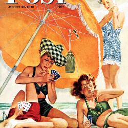 Card Game at the Beach