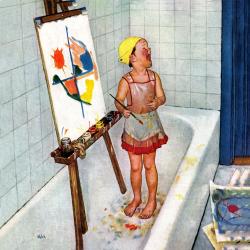 Artist in the Bathtub