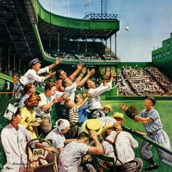 Catching home run ball
