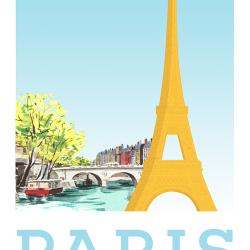 Paris travel poster