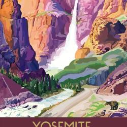 Yosemite California Travel Poster