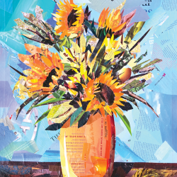 Composition with sunflowers