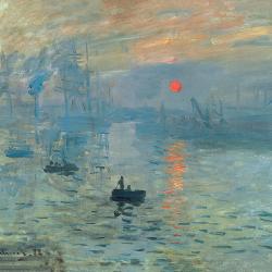 Sunset panorama over the sea