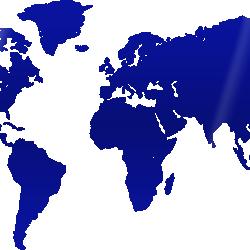 MAP OF THE WORLD - BLUE PLEXIGLASS WALL DECORATION