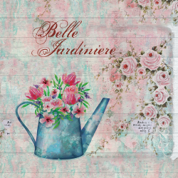 Rose and watering can