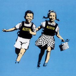 Jack and Jill, police kids, blue