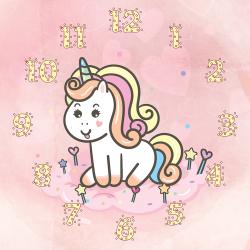 Sweet unicorn on the cloud