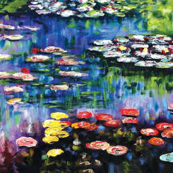 Water lilies in the pond in Giverny