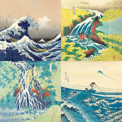 The most beautiful works of Hokusai - Collection 1