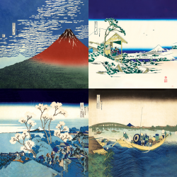 The most beautiful works of Hokusai - Collection 2