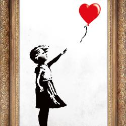Baby girl balloon frame