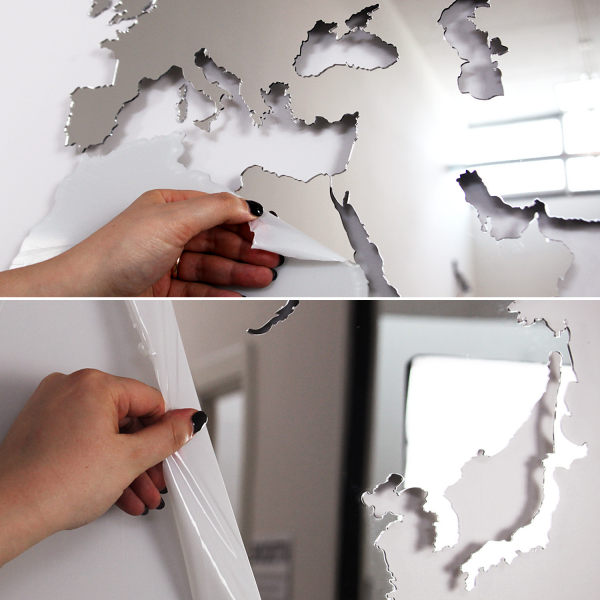 MAP OF THE WORLD - MIRROR WALL DECORATION